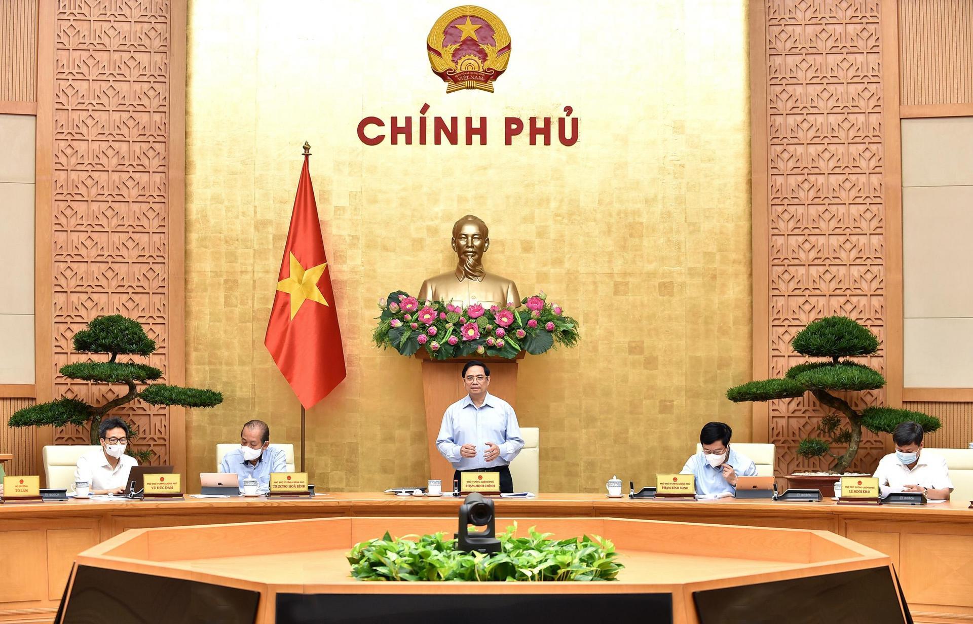 Thủ tướng Phạm Minh Chính phát biểu tại phiên họp Chính phủ