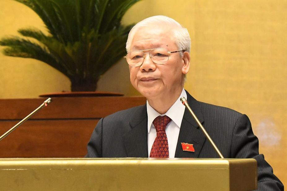 Tổng Bí thư Nguyễn Phú Trọng: Quốc hội cần phát huy những thành tựu và kinh nghiệm của suốt 75 năm qua, tiếp tục đổi mới, nâng cao hơn nữa chất lượng và hiệu quả hoạt động để đáp ứng tốt nhất yêu cầu, nhiệm vụ chính trị của đất nước trong giai đoạn mới.