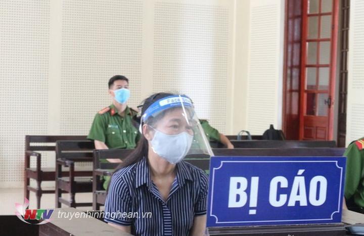 Bị cáo Lữ Thị Mai tại toà