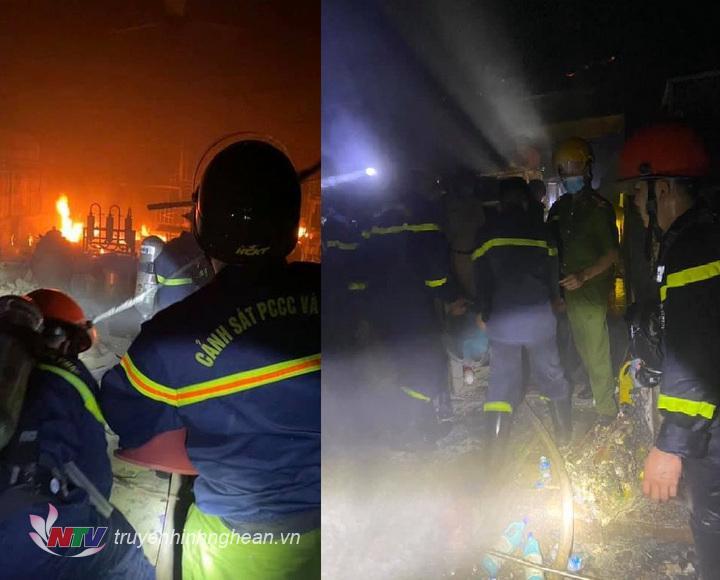 Lực lượng chữa cháy có mặt kịp thời nhằm khống chế đám cháy