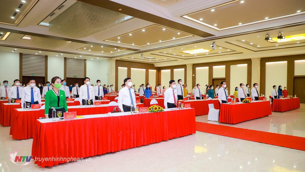 Kỳ họp thứ nhất HĐND tỉnh khoá XVIII, nhiệm kỳ 2021 - 2026 chính thức khai mạc.