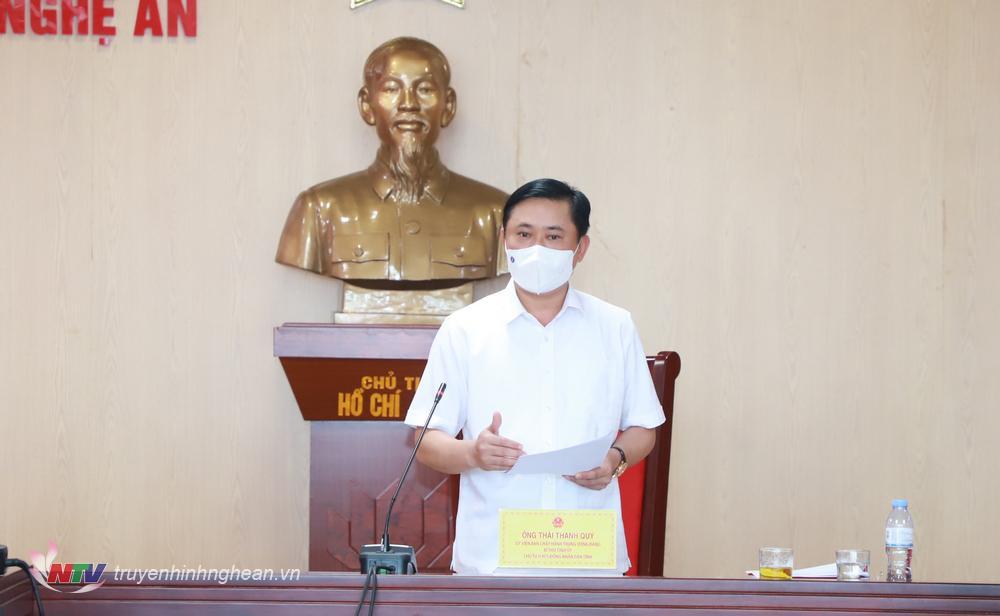 Bí thư Tỉnh uỷ, Chủ tịch HĐND tỉnh Thái Thanh Quý phát biểu kết luận cuộc họp.