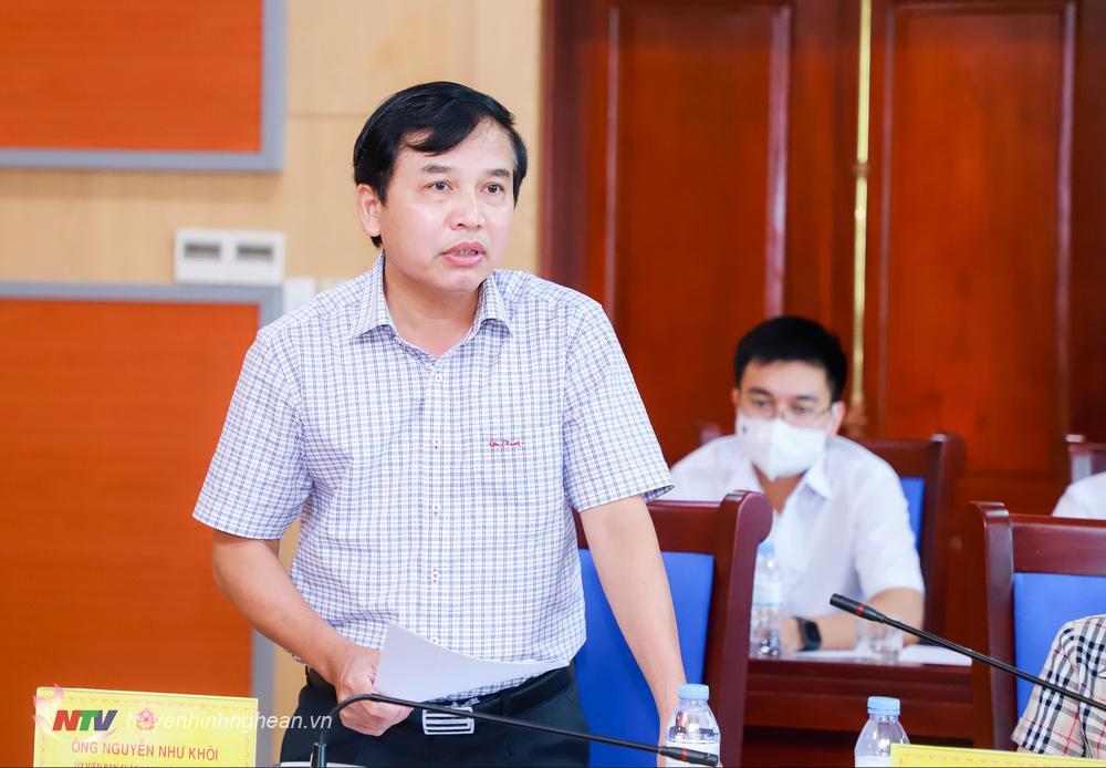 Đồng chí Nguyễn Như Khôi - Phó Chủ tịch HĐND tỉnh phát biểu tại cuộc họp.