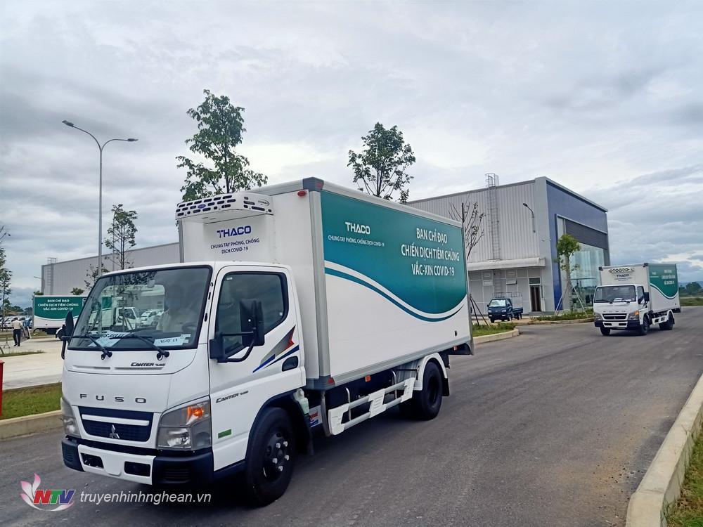 Vận hành xe tải về đơn vị để quản lý, khai thác, sử dụng  vận chuyển vắc xin sắp tới.