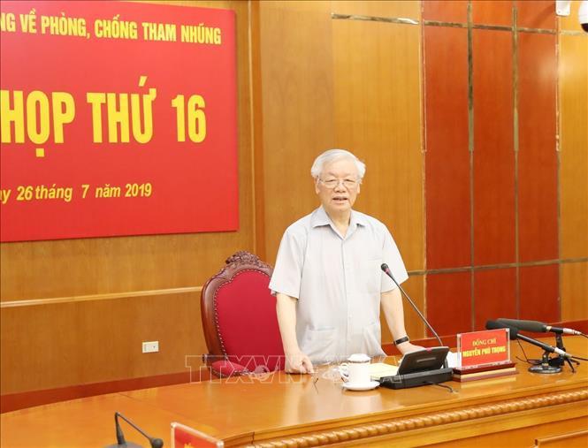 Tổng Bí thư, Chủ tịch nước Nguyễn Phú Trọng, Trưởng Ban Chỉ đạo Trung ương về phòng, chống tham nhũng.