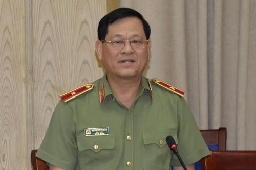 Thiếu tướng Nguyễn Hữu Cầu tại buổi làm việc chiều 22/8.