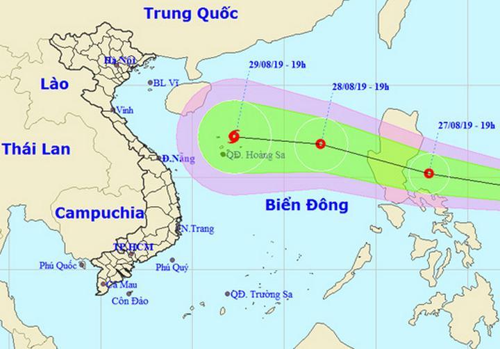 Đường đi của áp thấp nhiệt đới. Nguồn: nchmf.