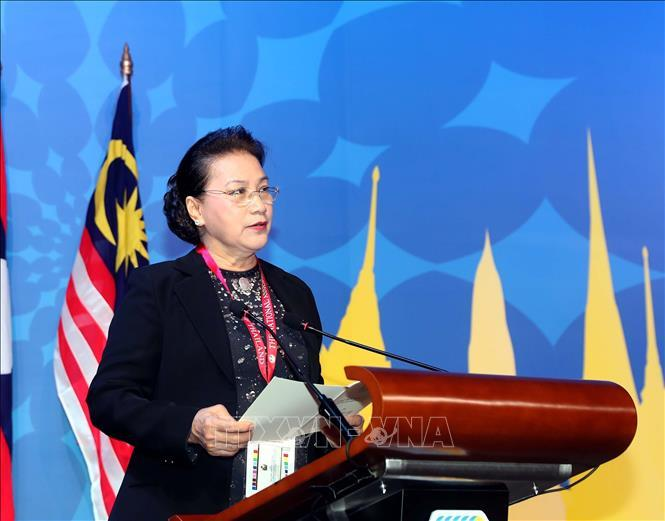 Chủ tịch Quốc hội Nguyễn Thị Kim Ngân phát biểu đảm nhận Chủ tịch AIPA 41.