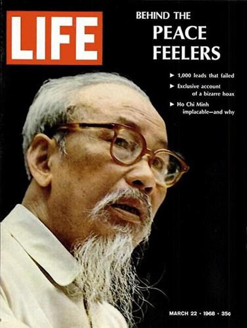 Chân dung Chủ tịch Hồ Chí Minh trên bìa tạp chí Life.