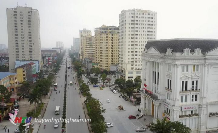 Đường Quang Trung, TP Vinh, Nghệ An.