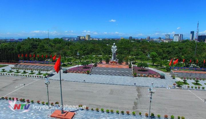 Quảng trường Hồ Chí Minh, TP Vinh, Nghệ An.