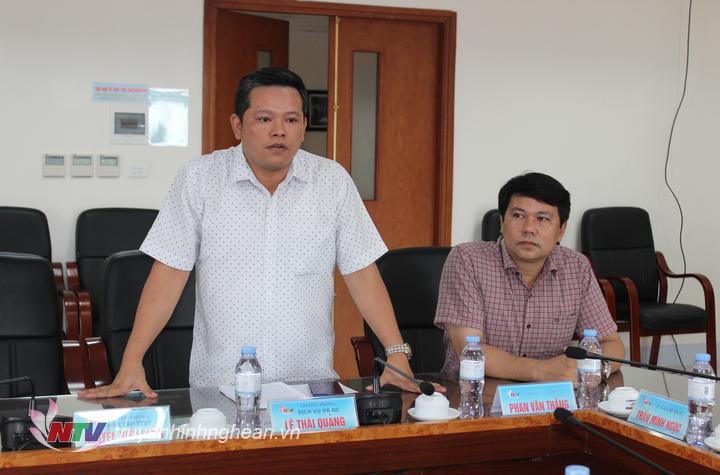 Nhà báo Kiều Hưng - Trưởng phòng BT-TTĐT, Đài PT-TH Nghệ An đề xuất nội dung trao đổi kinh nghiệm