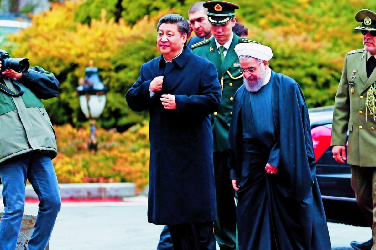 Chủ tịch Trung Quốc Tập Cận Bình và Tổng thống Iran Hassan Rouhani tại Tehran năm 2016.