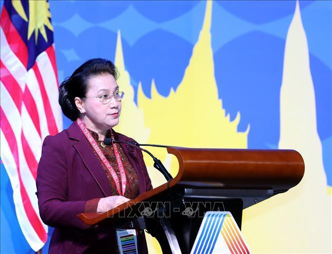 Chủ tịch Quốc hội Nguyễn Thị Kim Ngân phát biểu tại Phiên họp. Ảnh: TTXVN