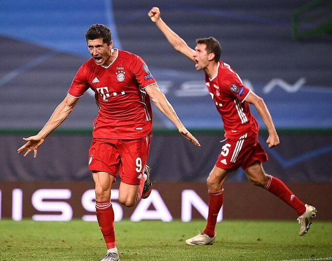 Bayern sẽ chạm trán PSG, kình địch của Lyon tại Ligue 1, ở chung kết. Ảnh: EPA
