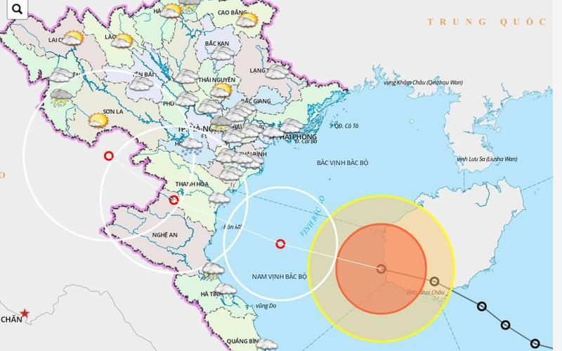 Áp thấp nhiệt đới đã mạnh lên thành bão số 2 ở gần Việt Nam.