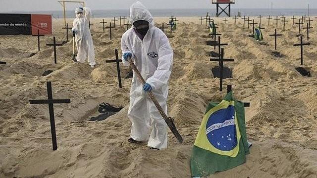 Brazil đứng ở vị trí thứ 2 về những con số thống kê dịch Covid-19.