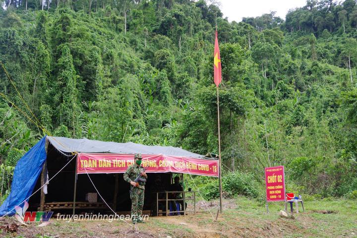Chốt phòng chống dịch số 2 thuộc đồn Biên phòng Phúc Sơn
