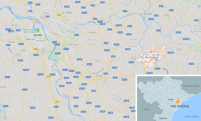 Thành phố Hải Dương (tỉnh Hải Dương) cách trung tâm Hà Nội chừng 60 km.