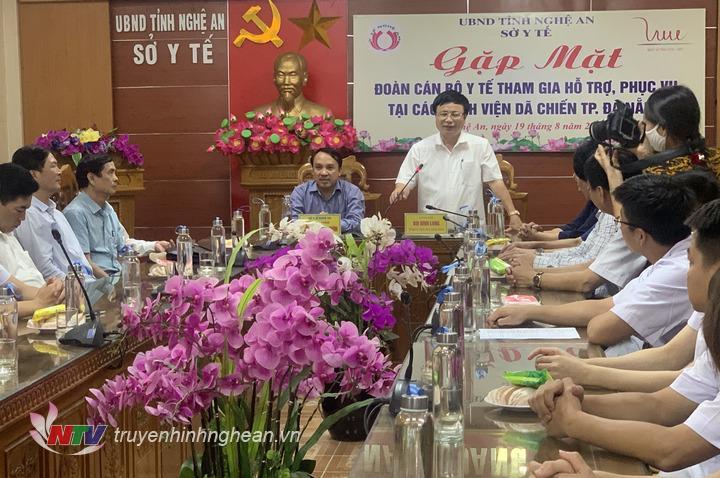 Phó Chủ tịch UBND tỉnh Bùi Đình Long phát biểu tại buổi gặp mặt.