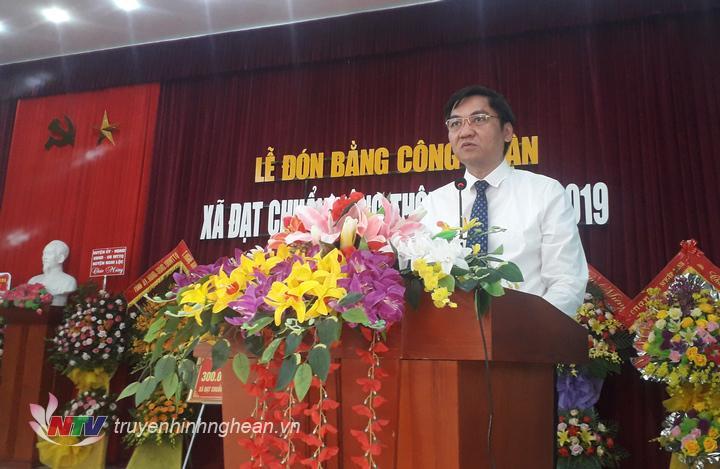 Phó Chủ tịch UBND tỉnh Hoàng Nghĩa Hiếu phát biểu tại buổi lễ.