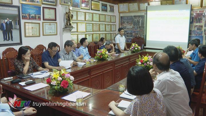 Toàn cảnh buổi làm việc của Thứ trưởng Lê Quốc Doanh và Tổng Công ty CP Vật tư Nông nghiệp Nghệ An.