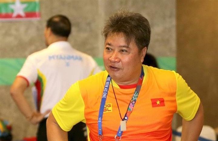 Chuyên gia Hoàng Quốc Huy của đội tuyển bơi Việt Nam