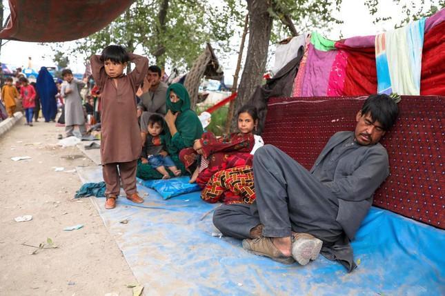 Người di tản dựng lều trong công viên ở thủ đô Kabul. Ảnh: EPA