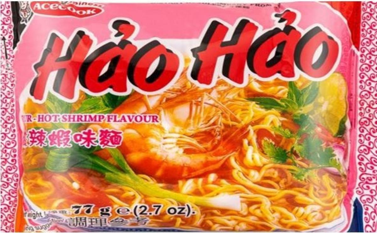 Mì tôm chua cay Hảo Hảo bị thu hồi do chứa chất Ethylene Oxide (Ảnh: FSAI).