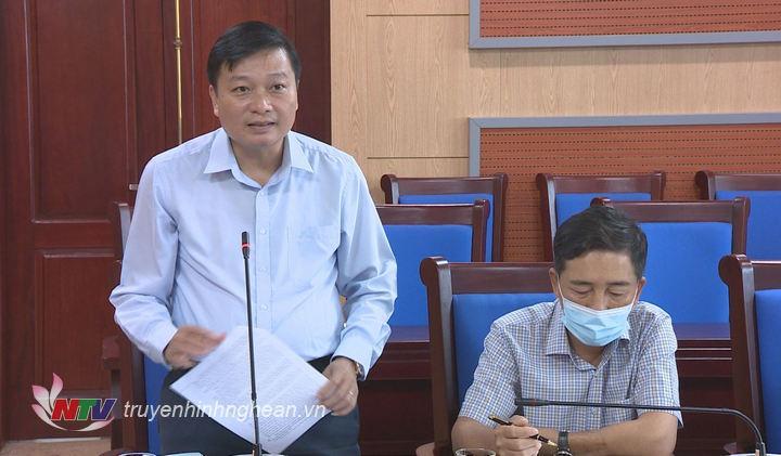Đồng chí Lê Hồng Vinh - Ủy viên Ban Thường vụ Tỉnh ủy, Phó Chủ tịch Thường trực UBND tỉnh tiếp thu, giải trình làm rõ một số vấn đề tại buổi làm việc.