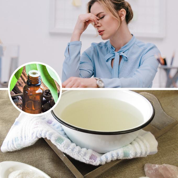 Giải tỏa căng thẳng   Nếu vừa trải qua một ngày làm việc căng thẳng, hãy chuẩn bị một chậu nước nóng, thêm một nhúm muối epsom và 10 giọt tinh dầu khuynh diệp, ngâm chân trong 20 phút, bạn sẽ thấy tinh thần thư thái hơn.