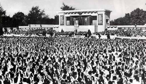 Ngày 9/9/1969, Lễ Quốc tang Chủ tịch Hồ Chí Minh được cử hành trọng thể tại Quảng trường Ba Đình lịch sử. Ảnh: Tư liệu