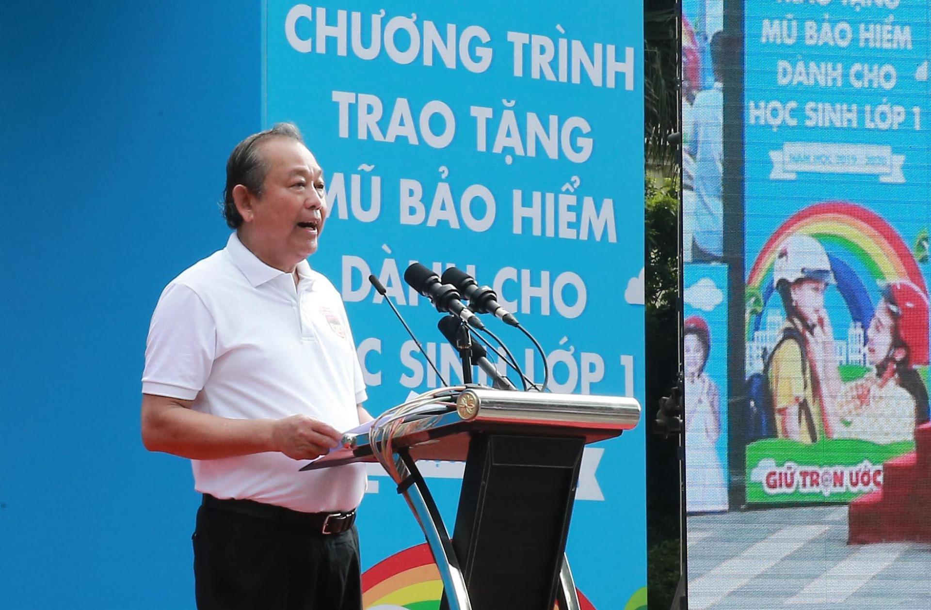 Phó Thủ tướng Thường trực Trương Hoà Bình phát biểu tại sự kiện.