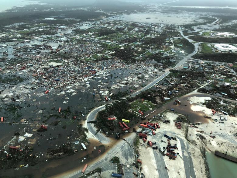 Hình ảnh chụp từ trên không cho thấy cảnh đảo Abaco thuộc Bahamas bị bão Dorian gây thiệt hại nặng nề. Ảnh: Reuters