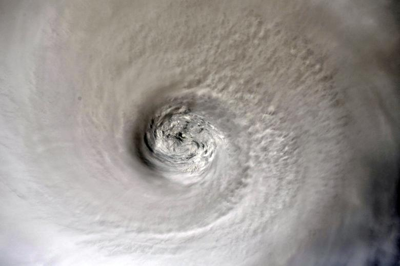 Mắt bão Dorian nhìn từ vũ trụ ngày 2/9.
