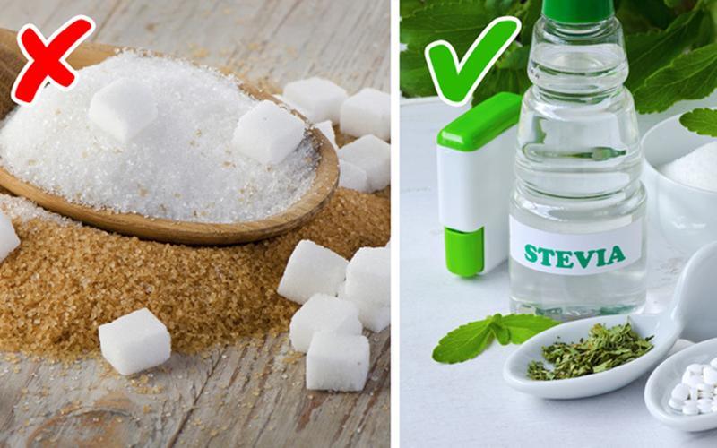 Hãy cố gắng giảm lượng đường khi pha cafe, thay vào đó bạn có thể sử dụng vani.