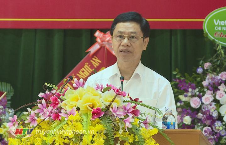 Phó Bí thư Thường trực Tỉnh ủy Nguyễn Xuân Sơn phát biểu tại lễ khai giảng.
