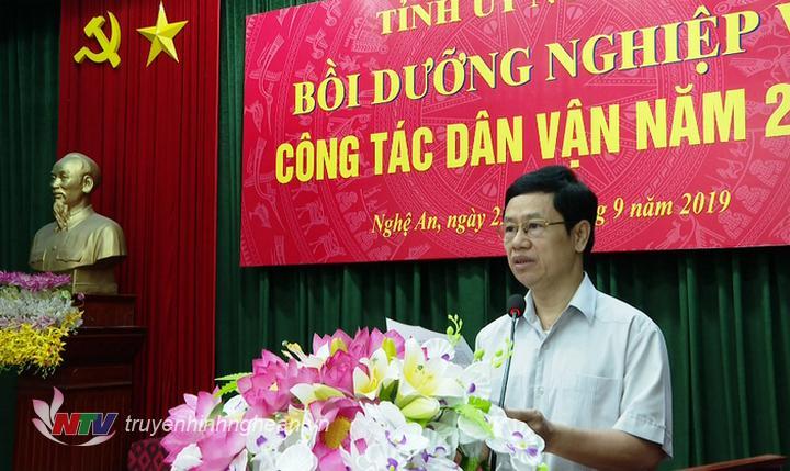Phó Bí thư Thường trực Tỉnh ủy Nguyễn Xuân Sơn phát biểu khai mạc.