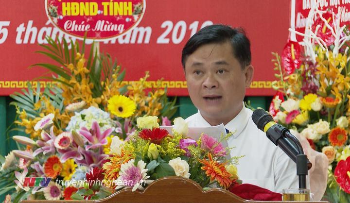 Chủ tịch UBND tỉnh Thái Thanh Quý phát biểu tại lễ khai giảng.