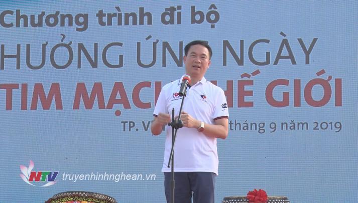 PGS.TS Phạm Mạnh Hùng - Giám đốc Viện Tim mạch Việt Nam kêu gọi cộng đồng đoàn kết trong cuộc chiến chống bệnh tim mạch.