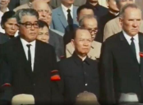 Các đồng chí lãnh đạo 2 miền Nam - Bắc và các đại biểu quốc tế đến từ hơn 50 quốc gia dự Lễ Quốc tang của Người.  Ảnh Nihon Denpa News
