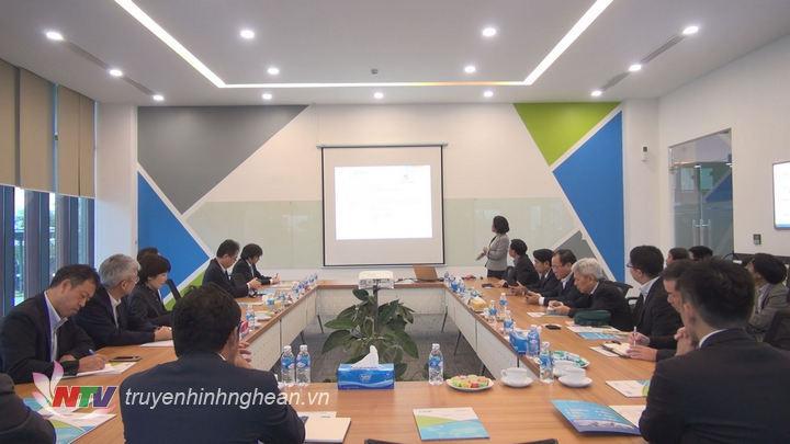 Các cơ quan, doanh nghiệp Nhật Bản có buổi làm việc tại Khu Công nghiệp VSIP Nghệ An ở Hưng Nguyên.