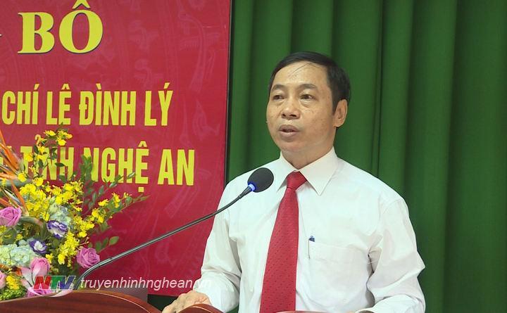 Tân Giám đốc Sở Nội vụ Lê Đình Lý phát biểu nhận nhiệm vụ.