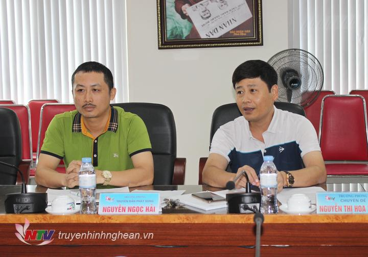 Đồng chí Trần Minh Ngọc - Phó Giám đốc Đài PT-TH Nghệ An phát biểu tại buổi làm việc.