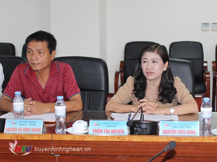 Đồng chí Nguyễn Thị Thu Hương - Phó Giám đốc Sở Văn hóa - Thể thao phát biểu tại buổi làm việc.