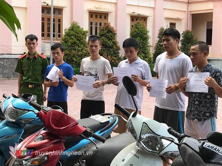 Các đối tượng gây ra hàng chục vụ trộm cắp xe máy trên địa bàn huyện Nghĩa Đàn và các huyện lân cận.