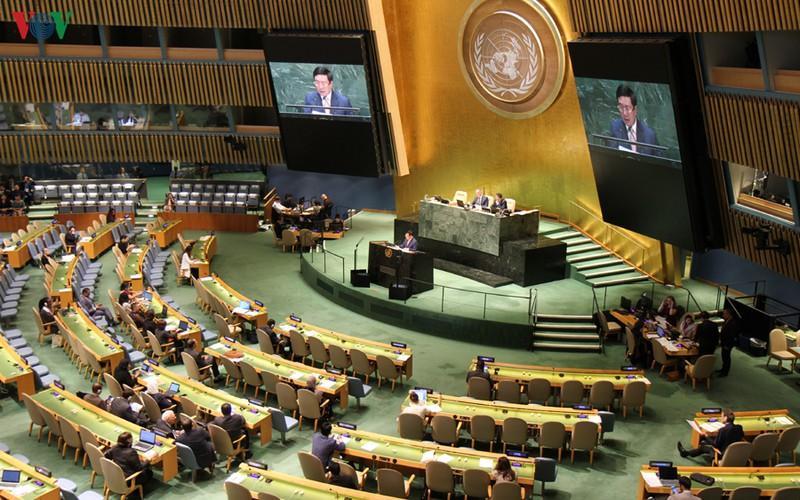 Phó Thủ tướng Phạm Bình Minh phát biểu tại phiên thảo luận chung cấp cao của Đại hội đồng LHQ khóa 74