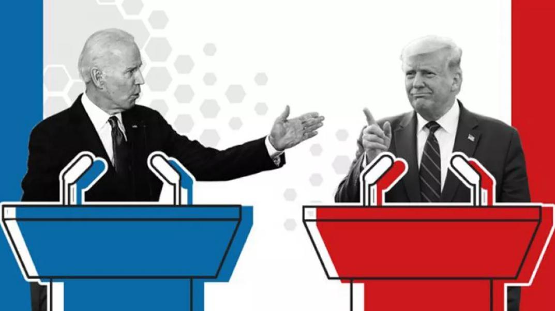 Cuộc tranh luận đầu tiên giữa Trump và Biden được phát trực tiếp trên truyền hình vào lúc 21h ngày 29/9 theo giờ Washington. Ảnh: BBC