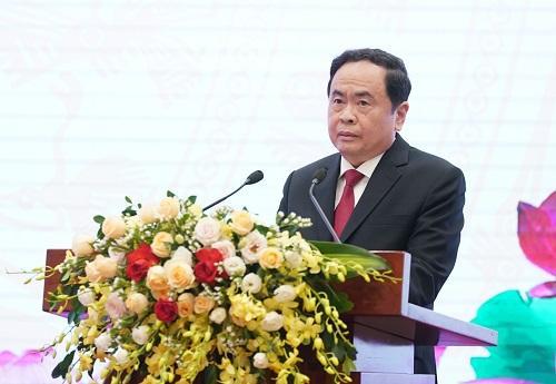 Chủ tịch Ủy ban Trung ương MTTQ Việt Nam Trần Thanh Mẫn phát biểu tại Đại hội.