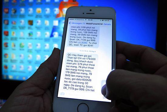 Tin nhắn rác gây khó chịu cho người tiêu dùng.